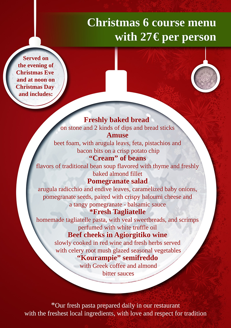 Christmas Eve Menu!