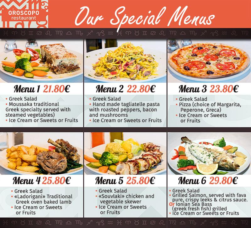 Athenes Restaurant Menu
