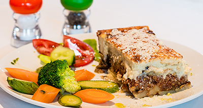 Menu 1 with Moussaka